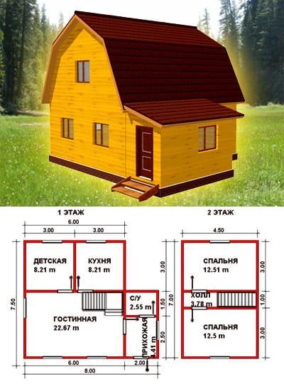 Строим дом проекты домов из бруса