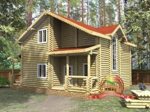 Проект дома из бревна 9 на 11