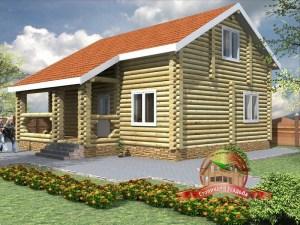 Проект дома из бревна 8 на 10