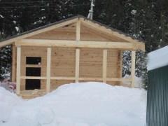 Строительство из зимнего профилированного бруса