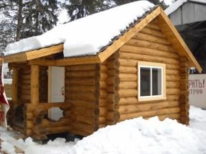 Баня из зимнего леса под ключ