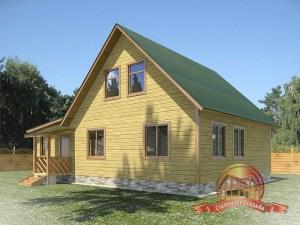 Проект деревянного дома коттеджного типа 9х12 для вашего загородного участка