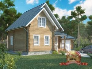 Современный загородный дом из бруса, все удобства