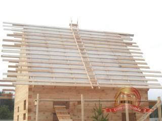 Обрешетка крыши из обрезной доски 25х150