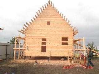 С каждым шагом дом из бруса 6х6 приобретает все более законченный вид