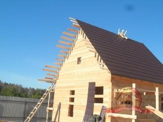 Общий вид на монтируемую крышу дома