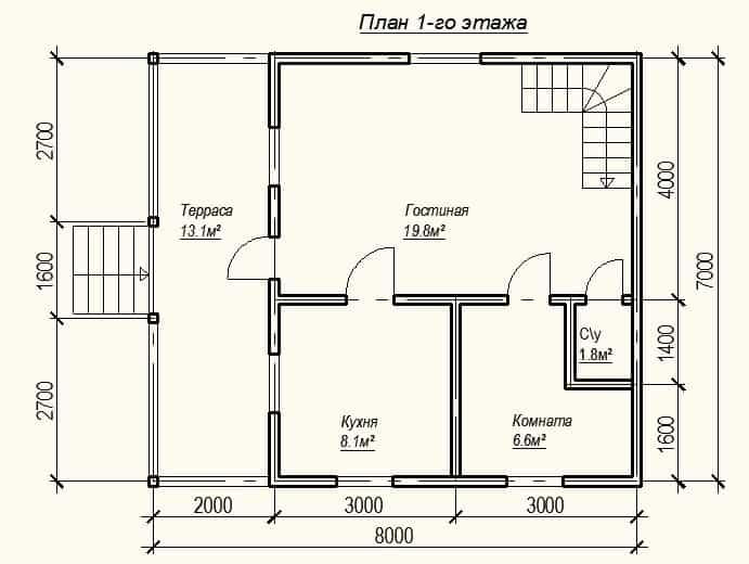 планировка домов 7на8 в картинках