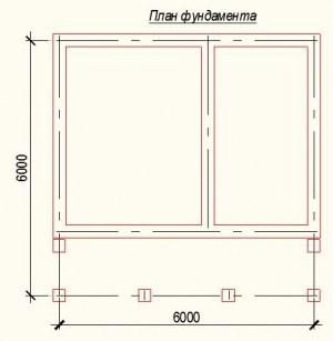 План фундамента для дома