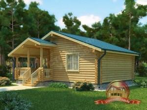 Уютная деревянная банька с большой террасой
