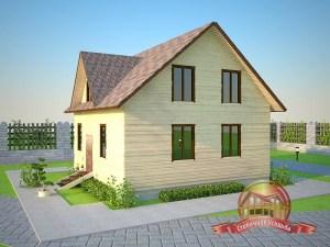 Небольшой домик из бруса для семьи