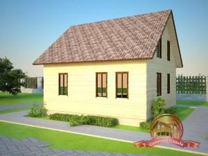 Брусовой дом с тремя спальнями