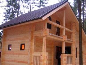 Брусчатый дом для дачи