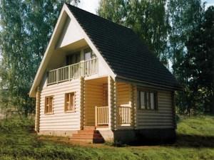 Дом из бревна для огородников