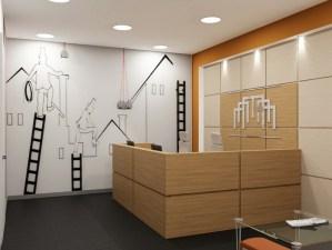Офис одной из строительных фирм в Москве