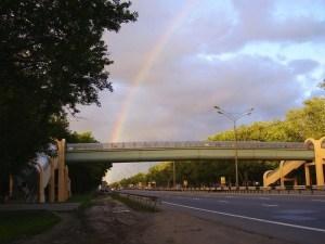 Горьковское шоссе достаточно развитое, но пробок на нем не бывает.