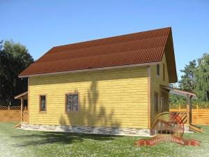 Дом из профилированного бруса для большой семьи