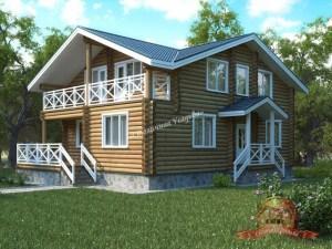 Дом из оцилиндрованного бревна 9х13