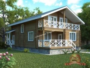 Проект деревянного дома из ОЦБ 9 на 13