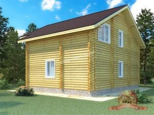 Небольшой и вместительный дом из оцилиндрованного бревна параметрами 10 на 11