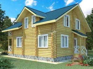 Проект дома из ОЦБ 8 на 10 с ломаной крышей
