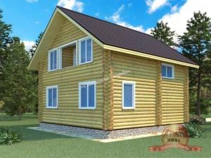 Дом из оцилиндрованного бревна 8х8