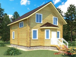 Проект деревянного дома из ОЦБ 8 на 8