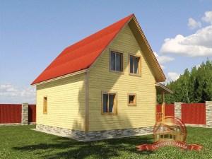 Проект деревянного дома под усадку