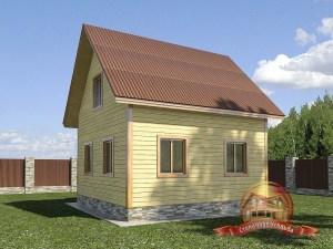 Проект деревянного дома 6 на 6 с крыльцом
