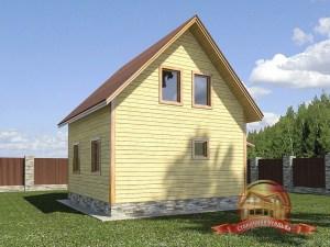 Проект небольшого дома из бруса для загородного участка