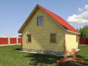 Проект деревянного дома в два этажа под усадку