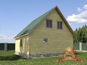 Компактный дом из бруса для загородного участка