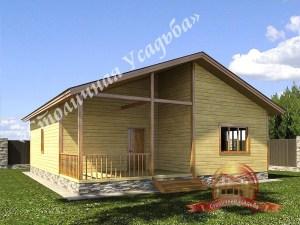 Одноэтажный брусовой дом 9.8х10.9, проект НБ-24