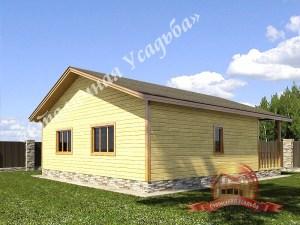 Одноэтажный дом из бруса 10 на 11