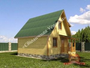 Проект дома из бруса 4х6 с открытой террасой