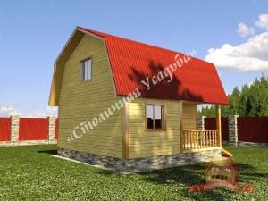 Удачная планировка дома из бруса 10х10 включает в себя террасу