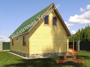 Планировка брусового дома включает в себя все необходимое