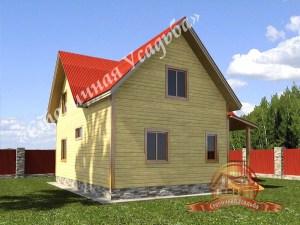 Проект дома из бруса 9 на 12 с балконом