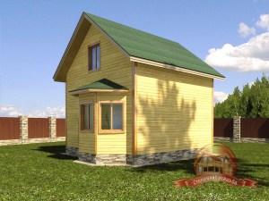 Брусовой дом 7 на 8 с большими окнами