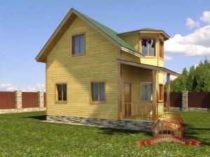 Брусовой дом для летнего отдыха 7х8
