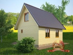Проект дома из бруса 7.5х8