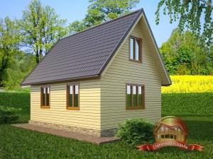Отличная планировка деревянного дома