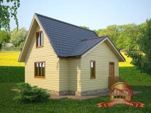 Интересный домик из бруса с отличной планировкой