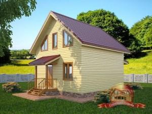 Брусовой домик на загородном участке