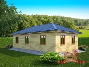 Брусовой домик для дачи с котельной
