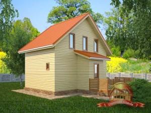 Дом на даче 7х8