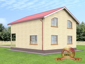 Проект дома 8х10 из бруса с отличной планировкой