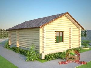 По желанию Заказчика можно добавить второй этаж, базовый проект бани - одноэтажный