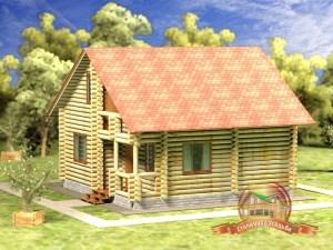 Дом из бревна 8х8