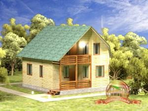 Дом из бруса 8х9