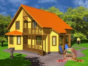 Дом из бруса 8 на 13 со вторым светом
